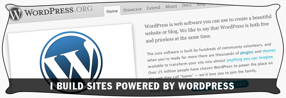 I build sites powered by WordPress in New Jersey